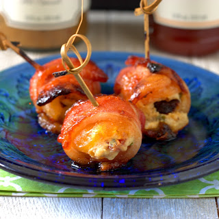 Saucy Bacon Wrapped Stuffed Apricots.