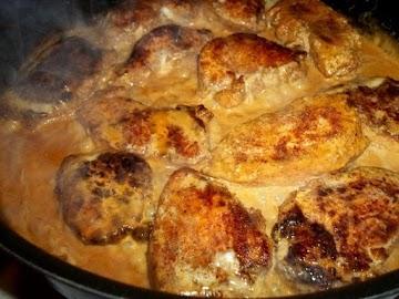 ~ Tasty Butter Cream Chicken Cutlets ~ Recipe