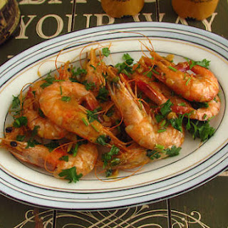 Fried Shrimps With Mustard