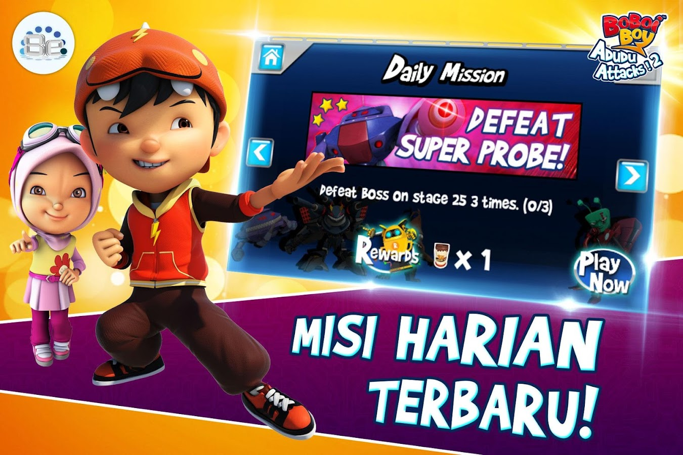 BoBoiBoy Adudu Attacks 2 Apl Android Di Google Play