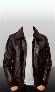 Men Leather Jacket Photo Suit screenshot 2