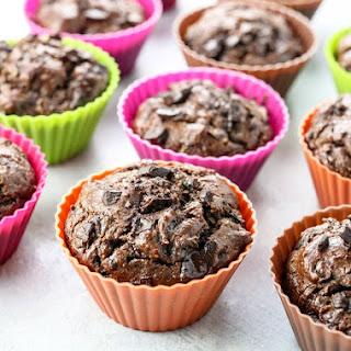 Healthy Flourless Chocolate Zucchini Muffins.