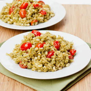 Quinoa with Pesto Tomatoes and Corn Recipe