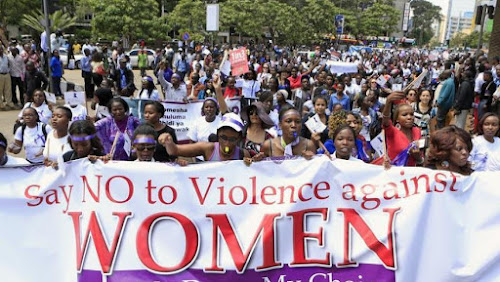 A march against violence against women