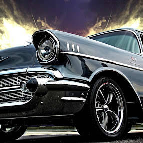Hoyt's Chevy III by JEFFREY LORBER - Transportation Automobiles ( atlanta concours, 1957 chevrolet, chevrolet, lorberphoto, rust 'n chrome, chevy, jeffrey lorber,  )