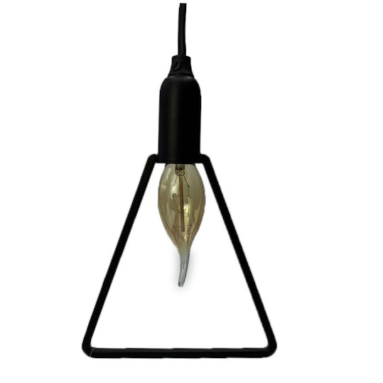 Fönsterlampa Triangel 15x15cm Svart