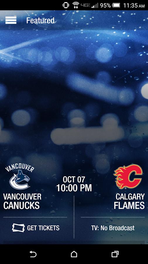 Vancouver Canucks- screenshot