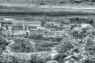 Photo: ICI, Frodsham Marshes, from Weston Village
