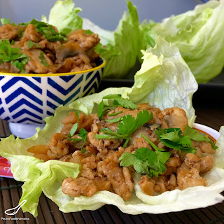 San Choy Bow - Asian Chicken Lettuce Wraps.