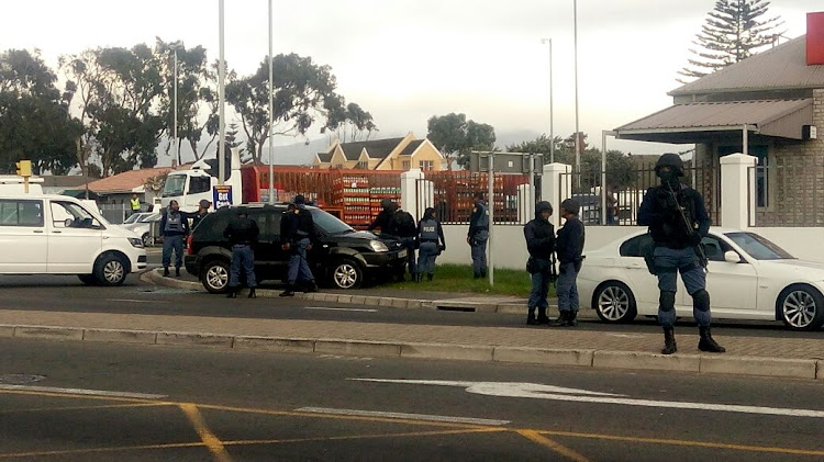 The aftermath of the hijacking and chase in Grassy Park' Cape Town on May 23 2018.