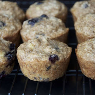 Moist and Delicious Banana Blueberry Muffins.