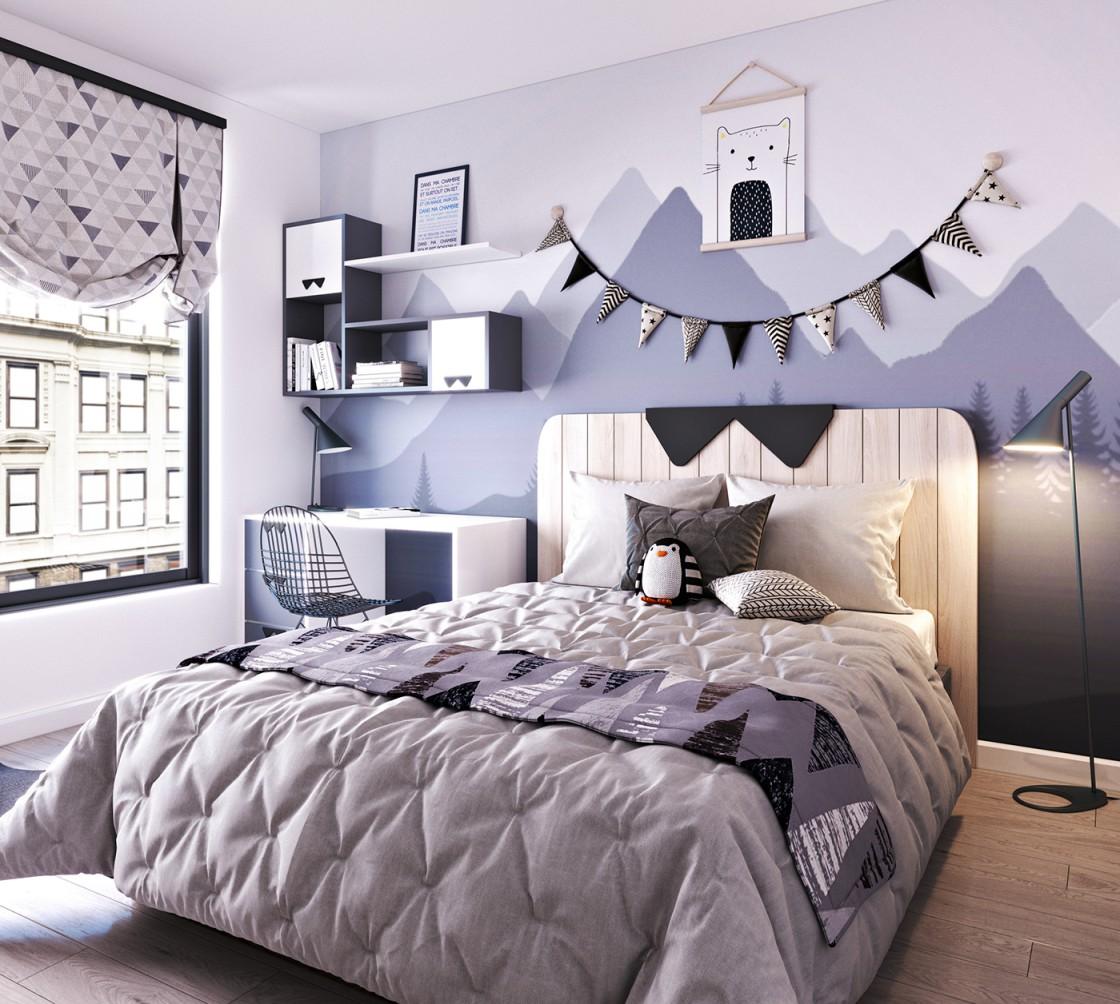 Trang trí không gian phòng ngủ biệt thự bằng những bức tranh tự vẽ