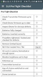 DJI Pre Flight Checklist- screenshot thumbnail