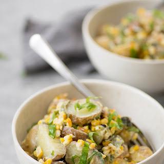 Grilled Corn, Poblano and Potato Salad.