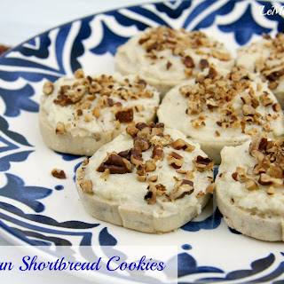 Maple Pecan Shortbread Cookies.