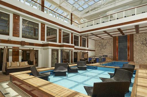 Treat yourself to luxury in the Haven Courtyard on Norwegian Joy.