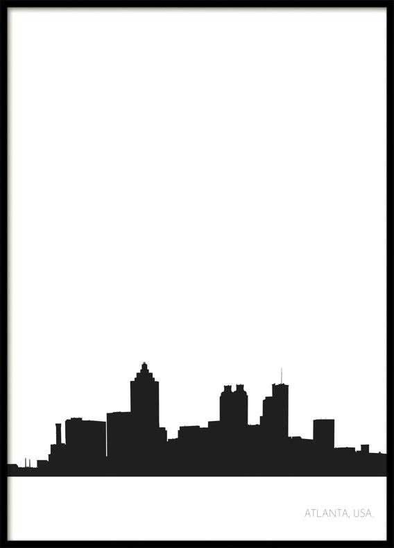 Atlanta City Skyline, Poster