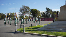 Acto de homenaje a los caídos durante la celebración de Santa Teresa