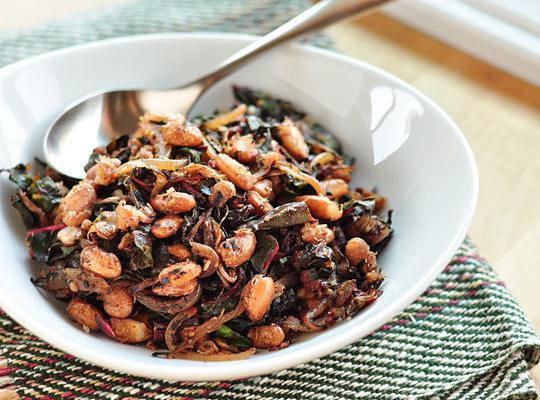 Stir Fried Greens And Beans Recipe