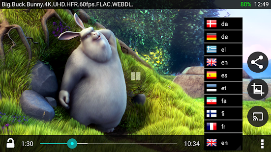 BitX Torrent Video Player Pro - náhled