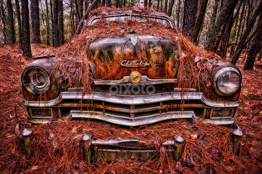 Chrysler by Kevin Egan - Transportation Other ( old car city, color, chrome, georgia, rust, antique,  )