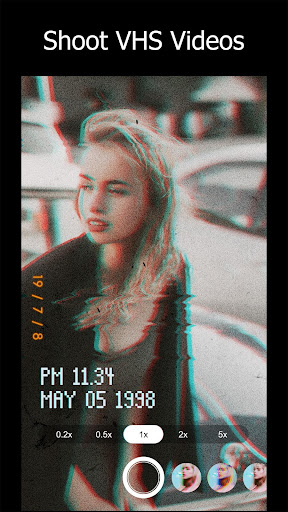 90s - Glitch VHS & Vaporwave Video Effects Editor screenshots 1