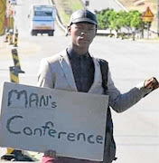 "The writer blames Eskom for all his woes, including missing the ""m en's conference"""