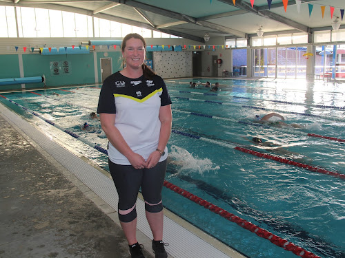 2018-19 Narrabri Stingrays coach Fiona Connell at her first session at the Narrabri Aquatic Centre on Monday.