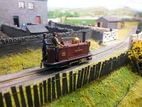 Photo: 126 The scene at Garreg Wen has now changed to a 2ft gauge (or slightly under!) to allow this superb model of an early Festiniog Rly early England loco to appear .