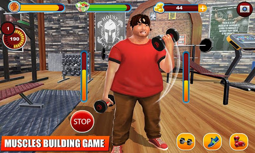 Fatboy Gym Workout: Fitness & Bodybuilding Games filehippodl screenshot 3