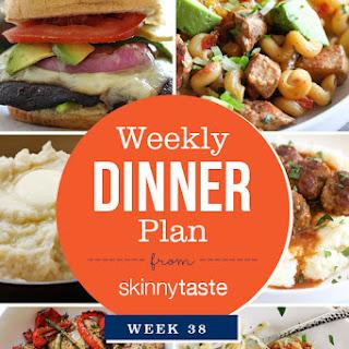 Skinnytaste Dinner Plan (Week 38)
