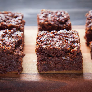 Rye Brownies with Caramel and Sea Salt