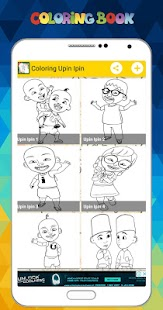 Coloring Upin Ipin - Drawing Painting for Children - náhled