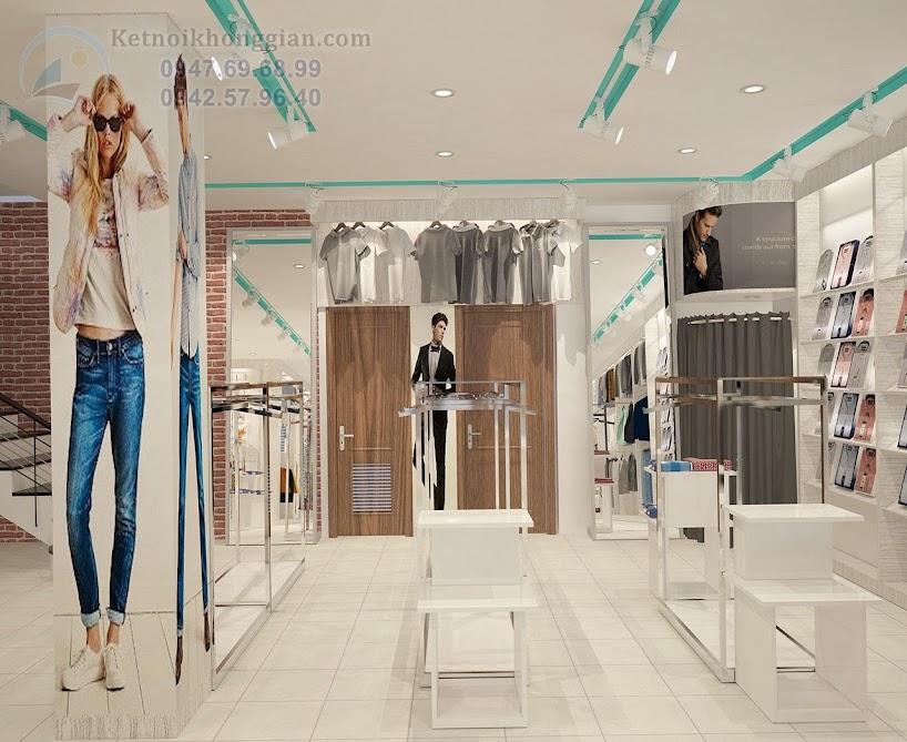 thiết kế shop quần áo thời trang đẹp