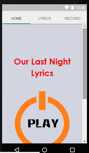 Our Last Night Lyrics