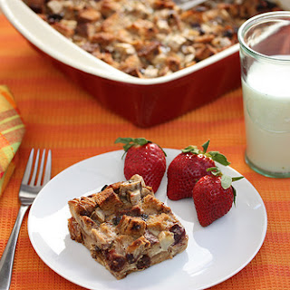 Cherry-Banana Raisin Bread Pudding