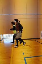 Photo: 斎藤先生のアイマスク体験をサッキーが伴走