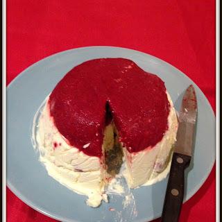 Easy Raspberry Sorbet And Vanilla Ice-cream Cake (no Churn Easy Ice Cream).