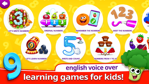 Funny Food 3! Math kids Number games for toddlers app (apk) free download for Android/PC/Windows screenshot