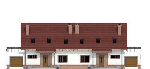 Sosnówka II z garażem 1-st. bliźniak A-BL2 - Elewacja przednia