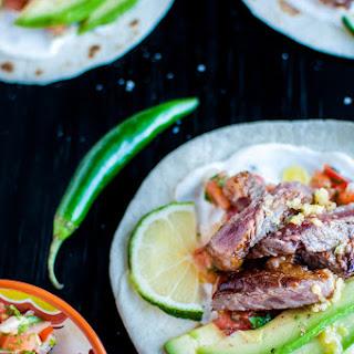 Garlic Butter Steak Tacos with Pico de Gallo