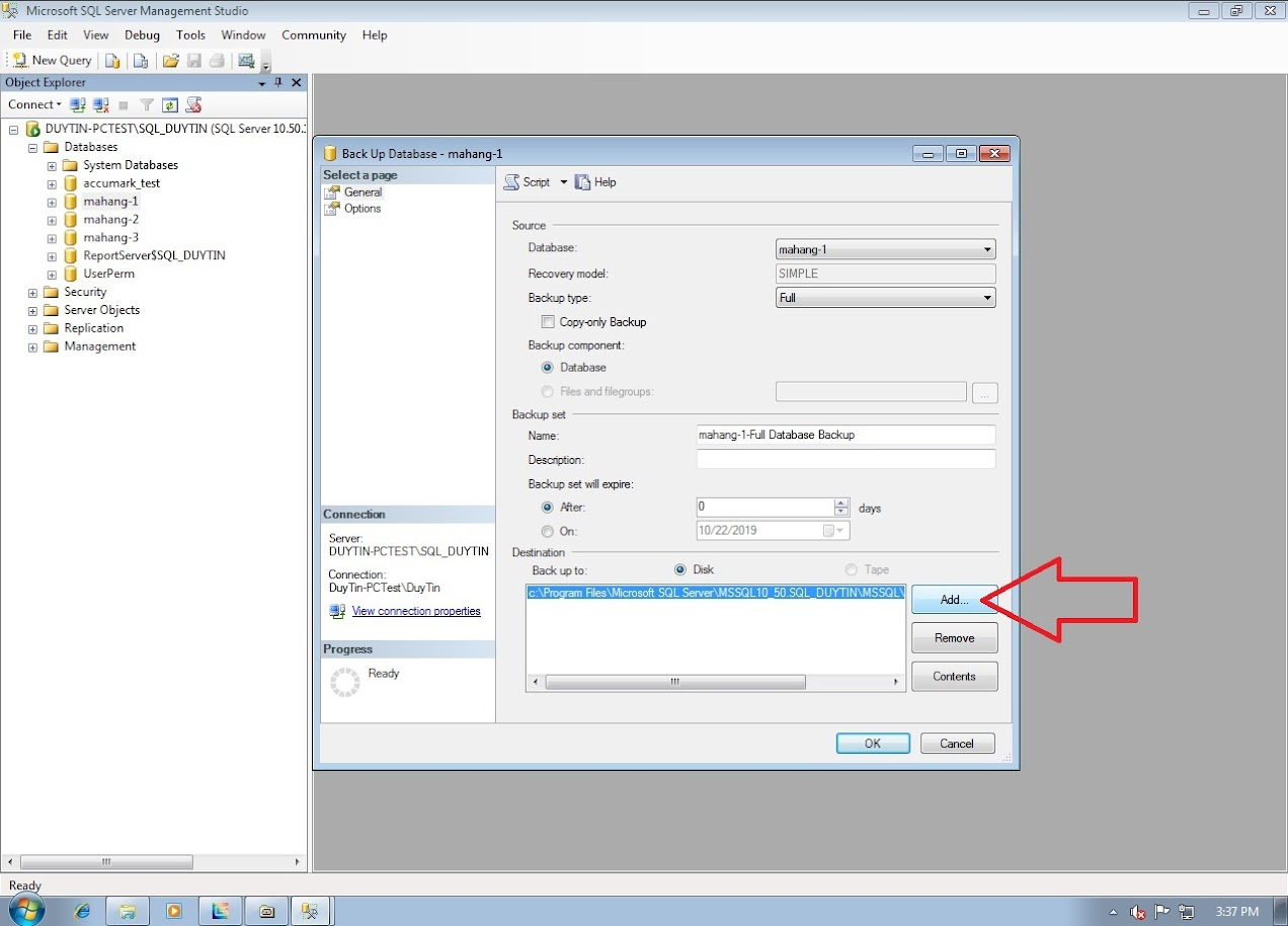 Hướng Dẫn Backup Và Restore Databases Gerber Accumark Trong SQL Server 7