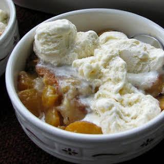 Crock Pot Peach Dump Cake.