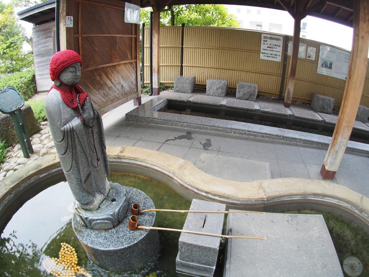 松江温泉の足湯