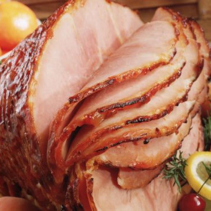 Glazed Baked Ham with Pineapple and Honey Recipe