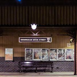 Moor Street by Carol Henson - Buildings & Architecture Public & Historical ( birmingham, night, moor street, railway station, camera phone, lg nexus 5x )