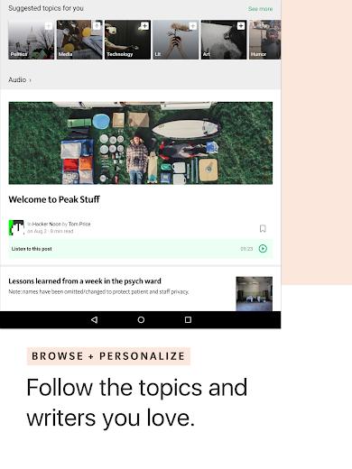 Screenshot 6 for Medium's Android app'
