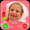 Like Nastya Fake call : chat & live prank icon