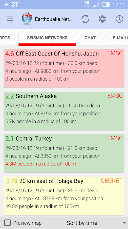 🚨 Earthquake Network - Realtime alerts- screenshot