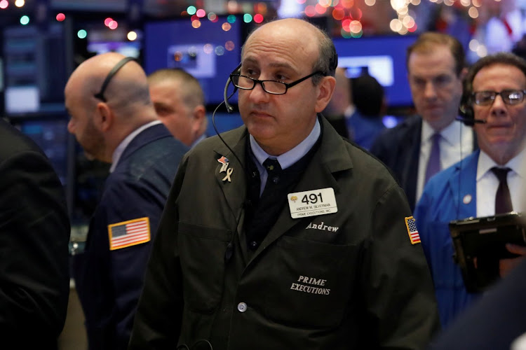 Traders work on the floor at the New York Stock Exchange in New York City, New York, the US, on January 2 2019. Picture: REUTERS/SHANNON STAPLETON